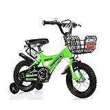 FINLR-Kinderfahrräder Jungen-Mädchen-Baby Kinderfahrräder Kinder Pedal Fahrrad 4 Farben 12/14/16/18/20 Zoll  Mit Flaschenhalterstabilisatoren Und Korb (Color : Green, Size : 20 inches)