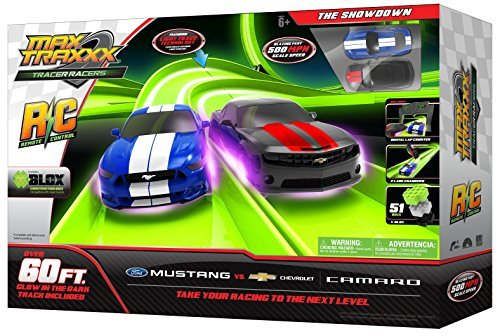 Max Traxxx Marble Tracer Racers Gravity Drive Dual Track Mega Loop Set with 2... Sonstige