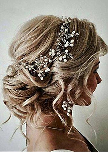 Handmadejewelrylady Fascia per capelli con foglie oro rosa accessori da sposa