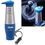 24V Wasserkocher LCD Vakuum Edelstahl LKW, Trucker Fernfahrer Caravan Boot 24 Volt Zigarettenanzünder Blau