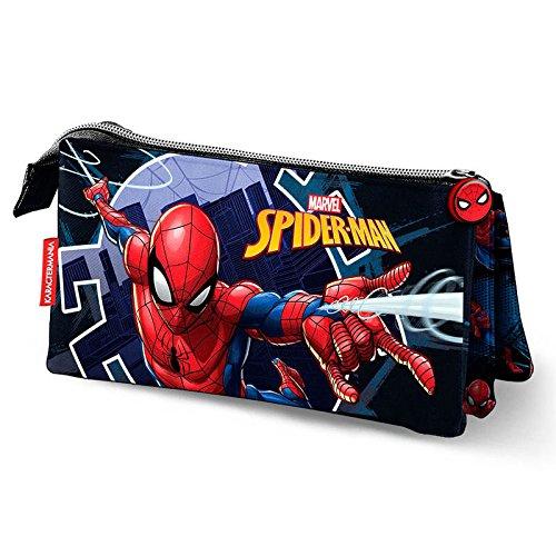 Karactermania Spiderman Hero Estuches, 23 cm, Azul