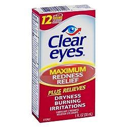 Clear Eyes Maximum Redness Relief Eye Drops -- 1 fl oz