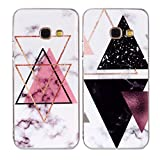Misstars 2X Coque en Silicone pour Samsung Galaxy A3 2017 A320 Marbre, Ultra Mince...