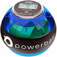 Powerball 280Hz Pro Fortalecedor de Empuñadura y Ejercitador de Mano Para Ejercicios Tónicos de los Antebrazos, Fortalecimiento de la Muñeca y del Grip. Medidor de velocidad LCD incluído