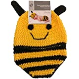 Hand Crocheted Hat And Diaper Cover Set 0-9 Months (Bumble Bee)