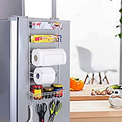 Yontree® Étagère à Suspendre pour réfrigérateur avec Ventouses Étagère à Epices Rangement Cuisine