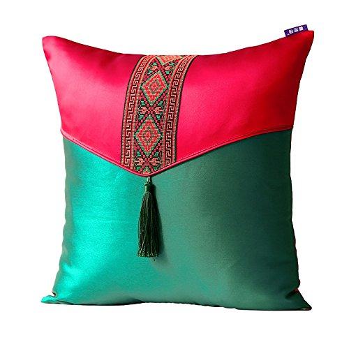Pillow-1A CGN Upscale Tuch Palast Satin Südostasien Stil Umschlag Spitze Sektion Kissen Kissen Sofa Kissenbezug Weich und bequem (größe : 60 * 60cm) -