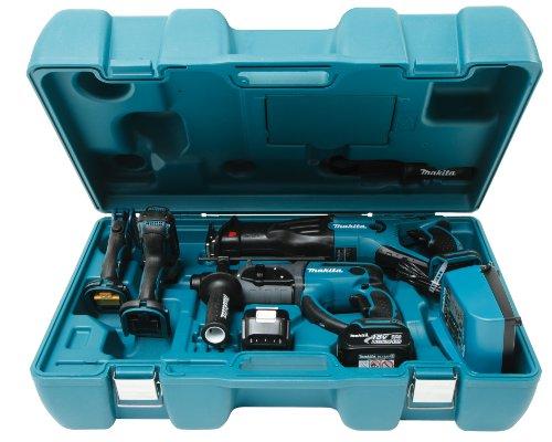 Preisvergleich Produktbild Makita DK1889 Combo-Kit 18 V (BDF454+BJR181+BHR202+BML185)