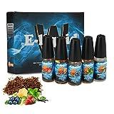 Wotek 5 X 10ml E-líquido Tobaco, E Cigarrillo Sabor Tabaco, Líquido para Cigarrillo Electrónico, Líquido sin Nicotina, PG 50% / VG 50% Sabor mixto E Shisha