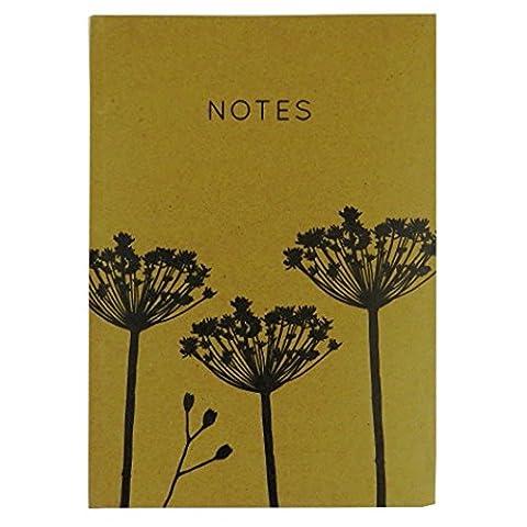 A4 Cahier, Artisanat Naturel Couverture Rigide - Graines de Fleurs - 140 Pages - Taille 297mm x 210mm