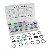 DealMux 122 Stück 18 Artikel Autoklimaanlage Metall Gummi-O-Ring Öldichtung Dichtungen Kit