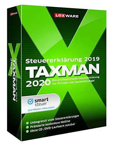 Lexware Taxman 2020 für das Steuerjahr 2019|Minibox|Übersichtliche Steuererklärungs-Software für Selbstständige, Gründer und Unternehmer