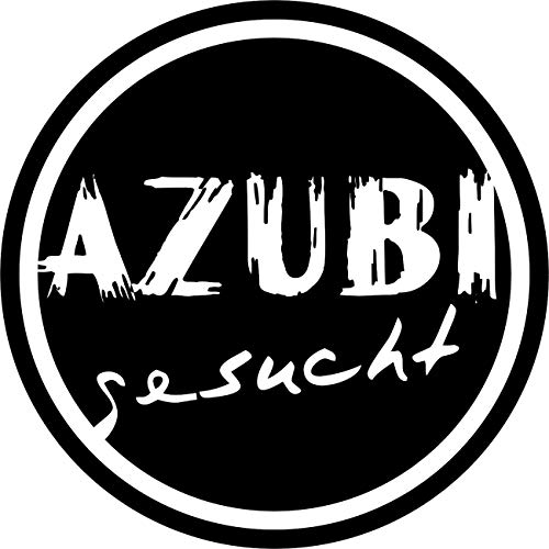 Wandtattoo - 'AZUBI gesucht' - Beruf, Ausbildung, Karriere, Jobsuche, Lehrstelle // Farb- und Größenwahl (Pink - 200 mm x 200 mm)