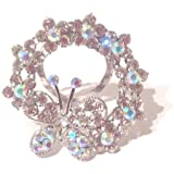 Fashion By Jamie - Gorgeous, Eye Catching Crystal Butterfly Scarf Clip - Supplied Boxed Making A Beautiful Gift
