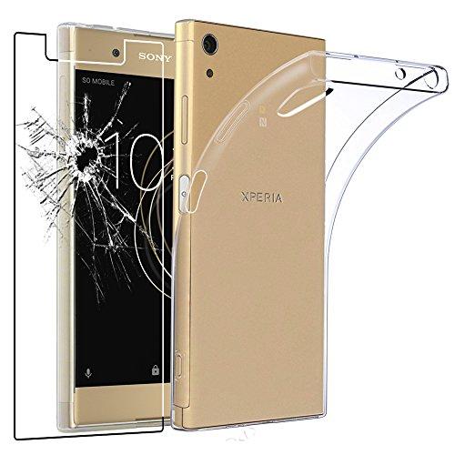 ebestStar - Sony Xperia XA1 Plus Hülle XA1 Plus/Dual Handyhülle [Ultra Dünn], Durchsichtige Klar Flex Silikon Schutzhülle, Transparent + Panzerglas Schutzfolie [Phone: 155 x 75 x 8.7mm, 5.5'']