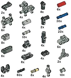 Lego Technic Pegs, Joints, Peg Joints Pack