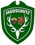 Waid Mann sbru angolo adulti caccia protezione Mecklenburg-Vorpommern auto cartello, Verde, Taglia unica