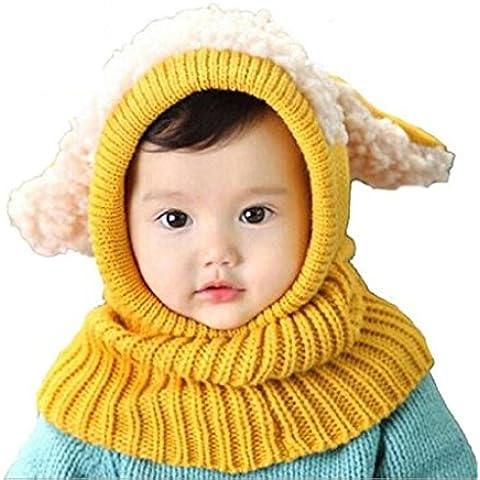 Cappello,SW Ragazzi Ragazze Bambino Inverno Caldo Cappelli Sciarpa Con Cappuccio Lana