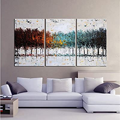 Gardenia Art - Colorful Forest Abstract Art 100% Hand Painted Contemporary Oil Paintings
