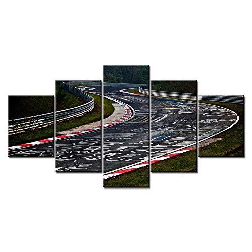 Axqisqx Nurburgring Rally Road Sports Car Track Print