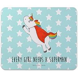 Mr. & Mrs. Panda para ratón Impresión Unicornio Superman–100% Handmade Caucho Natural–Unicornio unicornios Superman Super Girl Hombre de ensueño Mouse Pad Mousepad goma para ratón Mause Pad Unicornio unicornios Superman Super Girl Hombre de ensueño