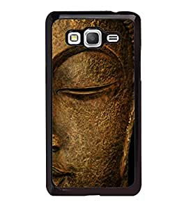 Fuson Premium 2D Back Case Cover Lord Buddha With black Background Degined For Samsung Galaxy Grand Prime G530h