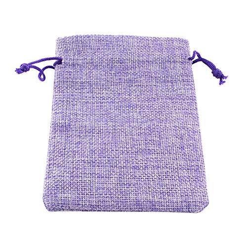 n, 5 Stück 17 × 23 cm lila Sackleinen Tuch Kordelzug Schmuck Beutel für Reisen Make-up, Kunsthandwerk, Aufbewahrung von Geschenken ()