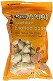 Petface Knochenknoten aus Rohleder, Pfefferminzgeschmack, zusammen 60 Knochen, (3 x 150 g)