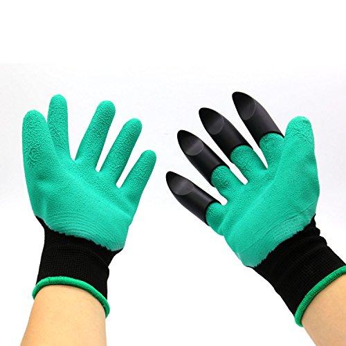 (Handschuhe von Garden Genie, mit stabilen Krallen an der rechten Hand (türkis))