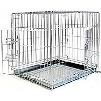 Jaula de doble puerta para perro (grande)
