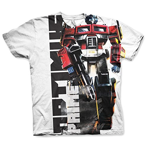Officially Licensed Merchandise Optimus Prime Allover Printed T-Shirt (Multicoloured), XX-Large - Trasformatori Adulti Optimus Prime