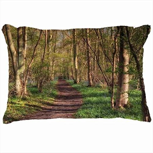 custom-pillowcases-diy-design-nature-path-through-forest-personalized-home-decor-pillow-cover-case-c