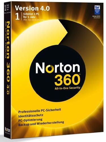 Norton 360 V4.0 1 PC (2 Pc Norton 360)