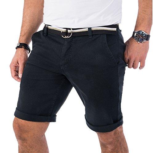 Rock Creek Herren Chino Shorts Hose Kurz Chinoshorts Inkl Gürtel Männer Sommer Bermuda Stretch Rc-2133 40 Anthrazit (Stretch-bund)