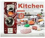 Kochtopf Deluxe Set aus Edelstahl für die Spielküche 23 tlg Pfanne Topf uvm