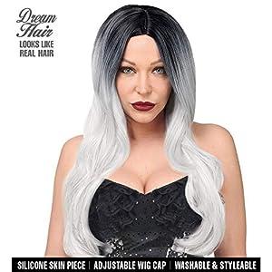 WIDMANN 02235Malika Cosplay Dream Hair peluca, mujer, gris/negro