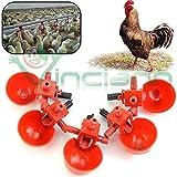 Kit 5 pezzi abbeveratoio acqua distributore allevamento pollame polli galline
