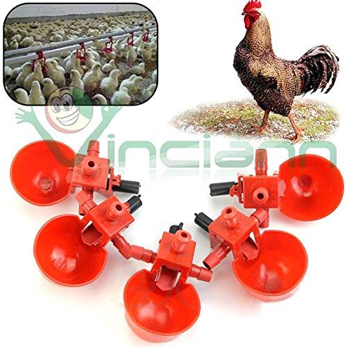 Galleria fotografica Kit 5 pezzi abbeveratoio acqua distributore allevamento pollame polli galline
