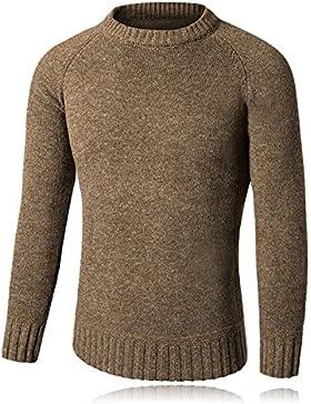 HY-Sweater Redondas de Jersey Patch Patch Tamaño Hombres Jersey, Caqui, XX-Large