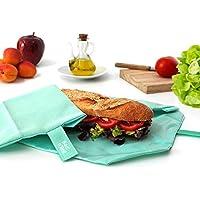 Roll'eat Boc'n'Roll Eco - Porta bocadillos reutilizable - bolsa merienda - funda bocadillos- bolsa desayuno- BPA Free