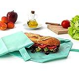 Roll'eat Boc'n'Roll Eco - Porta bocadillos reutilizable - bolsa merienda - funda bocadillos- bolsa...