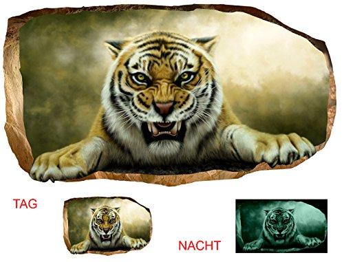 220 Kunst (Startonight 3D Tapete Tiger, Wandmalerei Bild an der Wand Großformat Modern Muster Dekorative Kunst Wand 120 x 220 CM)