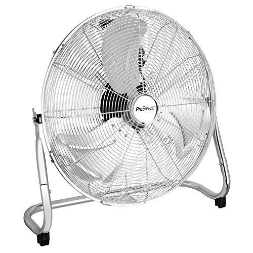 Pro Breeze Ventilador de Suelo Cromado para Gimnasio de 20