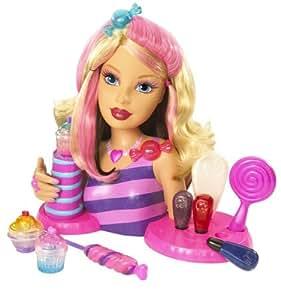 Mattel - Barbie Candy Glam : Tête à coiffer à Maquiller