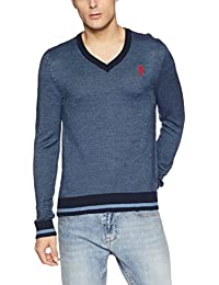 US Polo Assn. Men's Synthetic Sweater (8907378317247_USSW0629_XXX-Large_Navy)