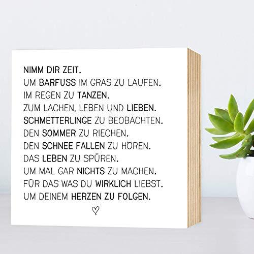 32356a5efc72ee Nimm Dir Zeit - einzigartiges Holzbild 15x15x2cm zum Hinstellen Aufhängen