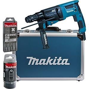 MakitaHR2631FT13 –Martillo combinado para SDS-Plus de 26mm, en maletín de aluminio