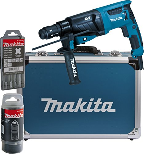 Makita - Martello perforatore HR2631FT13 per SDS-Plus, 26 mm, in valigetta di alluminio, HR2631FT13 800 wattsW, 230 voltsV