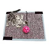 Umiwe Kratzmatte für Katzen, Spielzeug mit Glocke, Sisal, Kratzbrett mit flexiblem Material, Klett-Rückseite um Tisch Couch Stuhl Bein zu verhindern, Dass Möbel kratzen.