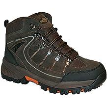 Northwest Territory - Chaussure Montante Homme RAE Bottine Lacet Dessus Cuir Imperméable Marche Randonnée Trekking - Marron, Cuir, FR 45